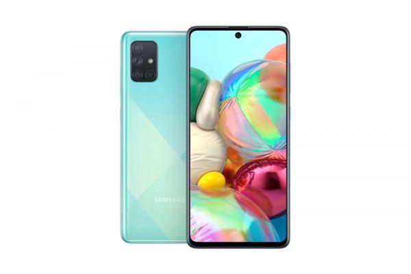 گوشی موبایل سامسونگ آبی galaxy a71