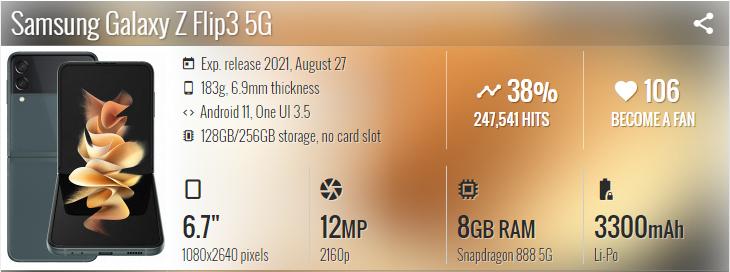 گوشی موبایل سامسونگ Samsung Galaxy Z Flip3 5G